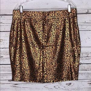 Forever 21+ NWT 1X Copper Animal Pencil Tube Skirt